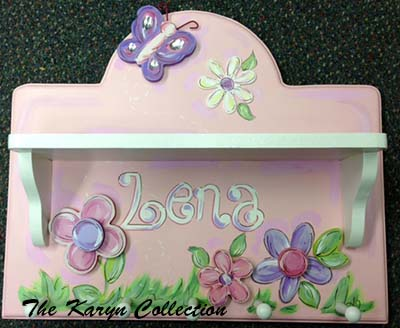 Flower and Butterfly Coat Rack shelf