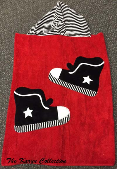 Sneakers Toddler Towel on red
