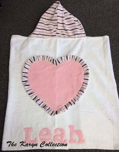 Leah's Jumbo Heart Hooded Towel