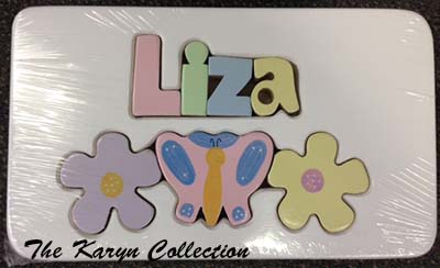 psFlower and Butterfly Puzzle Stool