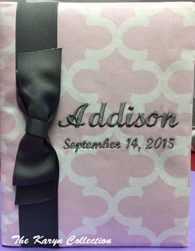 Addison's Pink Trellis Photo Album