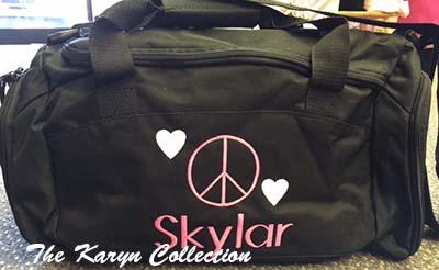 Skylar's Gym Bag with Shoe Pocket