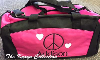Addison's Gym Bag with Shoe Pocket