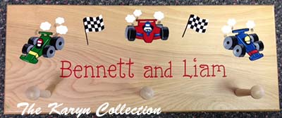 Race Car Coat Rack