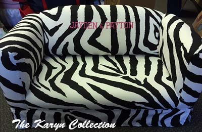 Zebra Fabric Couch