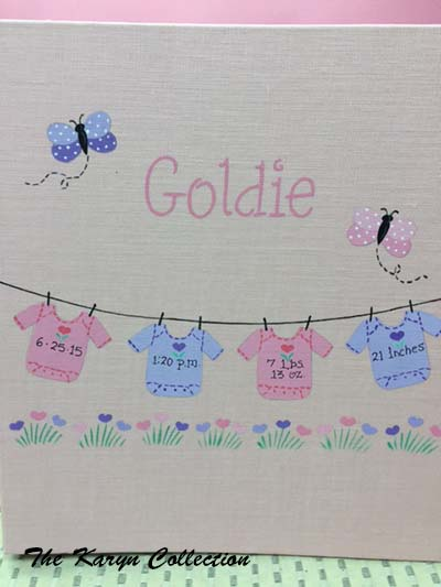 Light Pink Linen Girls Baby Book