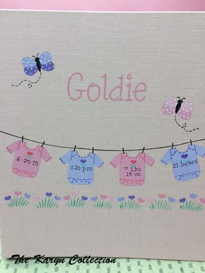 Light Pink Linen Girls Baby Book