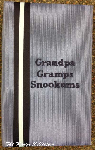 Grandpa Blue Stripe Large Photo Album