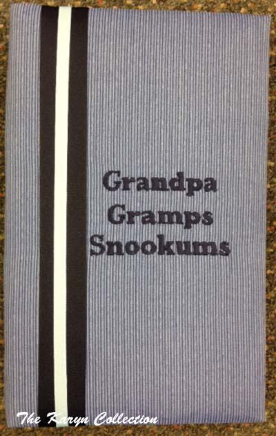 Grandpa Blue Stripe Large Photo Album