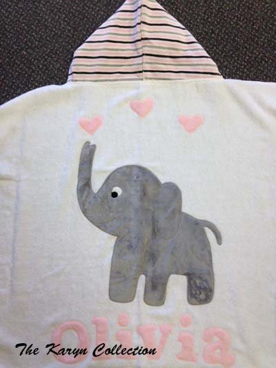 Olivia's Elephant Toddler Towel