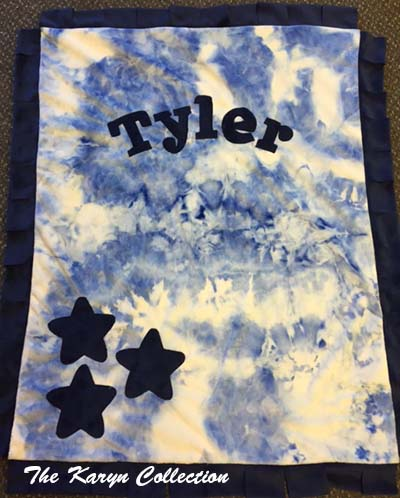 Basic Blue Tie Dye Star Blanket