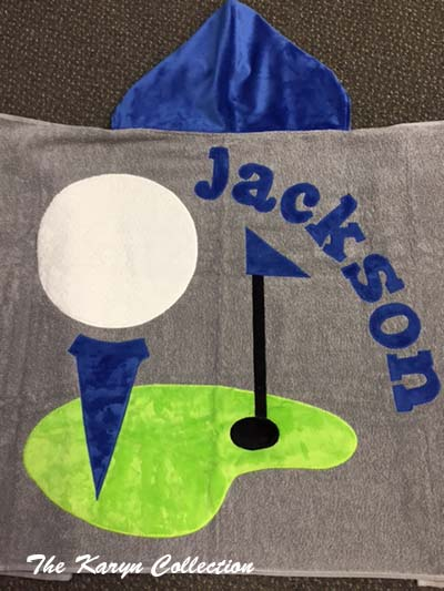 Jackson's Gray Golf Toddler Towel