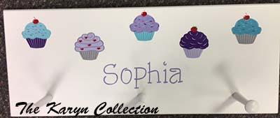 Sophia's Cupcake Coat Rack