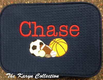 Chase's 2-Zipper Waffle Bag