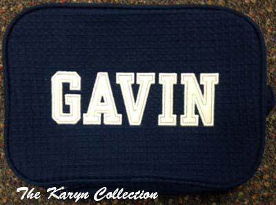 Gavin's 2-Zipper Waffle Bag