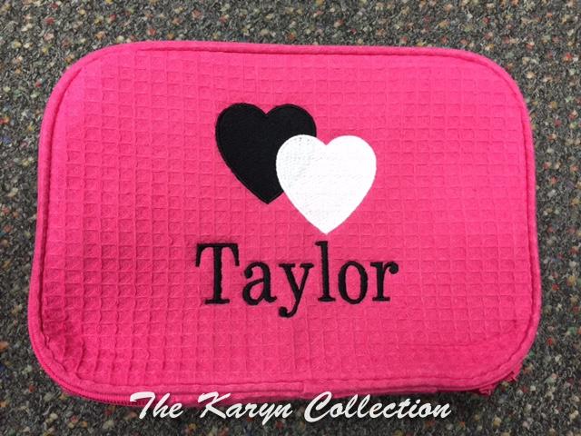 Taylor's Hot Pink 2 Hearts Waffle Bag