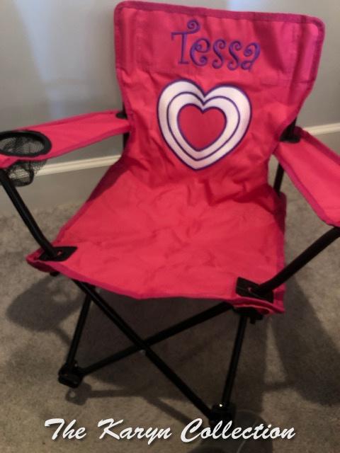 Tessa's heart stadium chair
