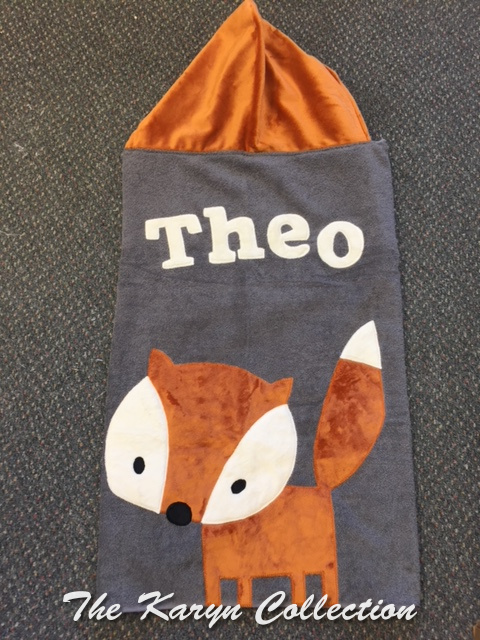 Theo's fox hooded towel