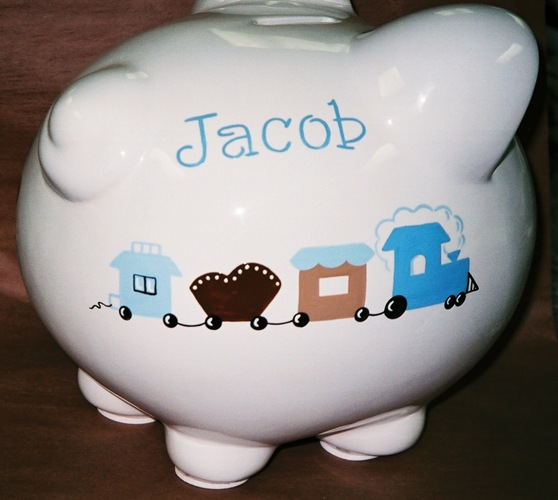 Choo Choo Train Piggy Bank