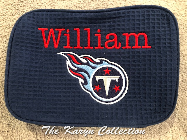 William's Navy waffle bag- TENNESSEE TITANS