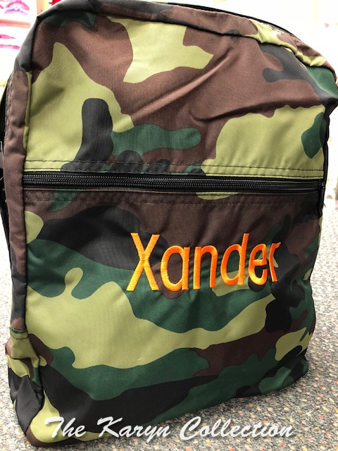 Xander's Large Camo Backpack