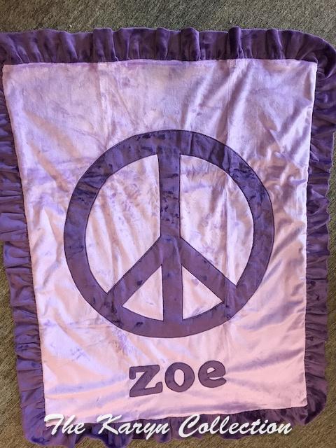 Zoe's Lavender Peace Minky Blanket