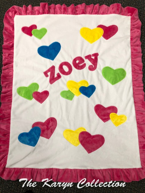 Zoey Bright Hearts Blanket