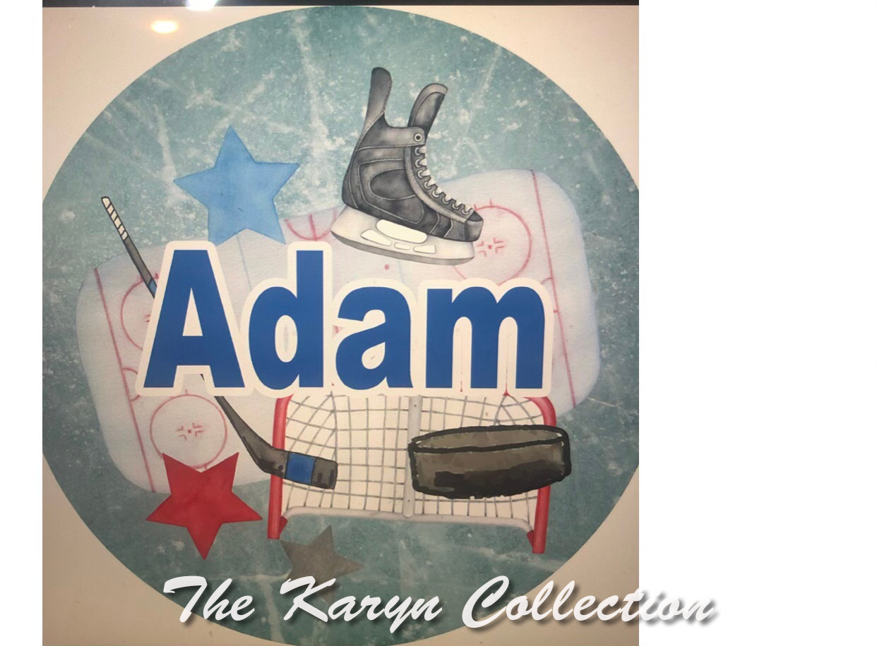 Adam's Hockey Plate Set-select your combinations