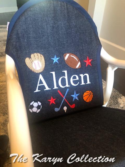 Alden's All Sports Rocker with golf on denim