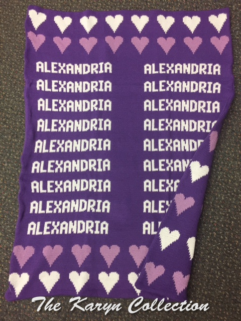 *EXCLUSIVELY OURS...ALEXANDRIA'S HEARTS ALL COTTON BLANKET