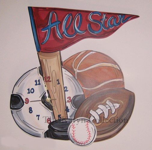 All Star Sports Clock
