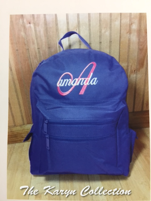 Amanda's large size Back Pack