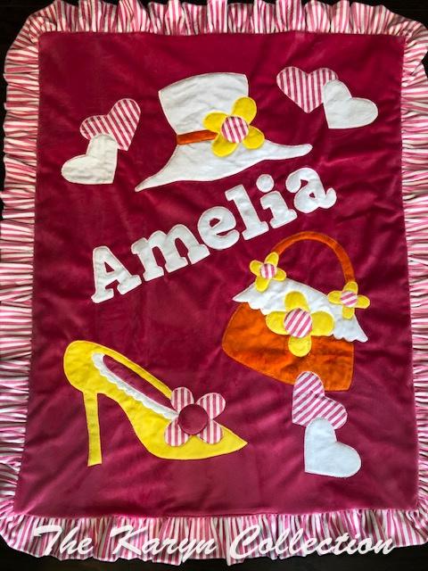 Amelia's Dress UP BB minky Blanket