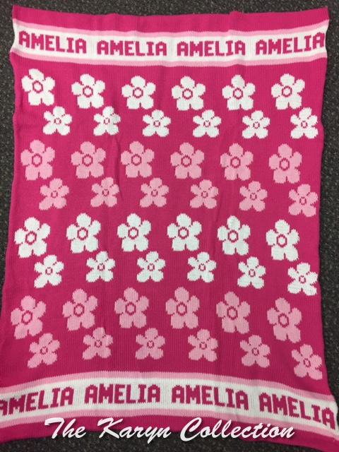 *EXCLUSIVELY OURS...AMELIA'S ALL COTTON DAISY BLANKET