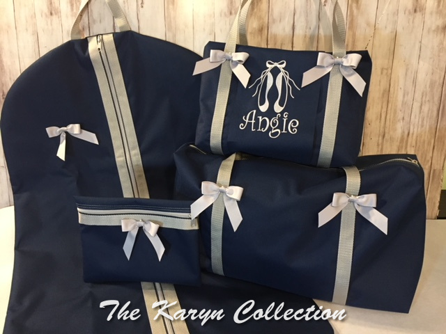 Angie's Navy Ballerina Bags