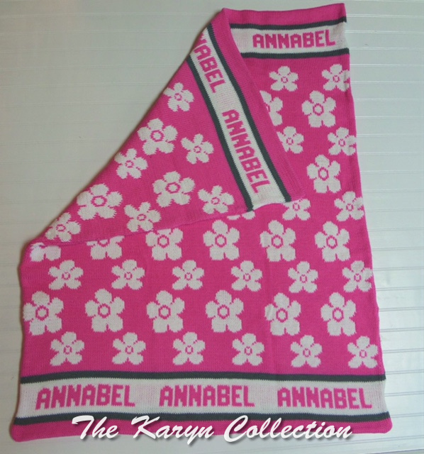 EXCLUSIVELY OURS...Annabel's ALL COTTON DAISY FLOWER BLANKET