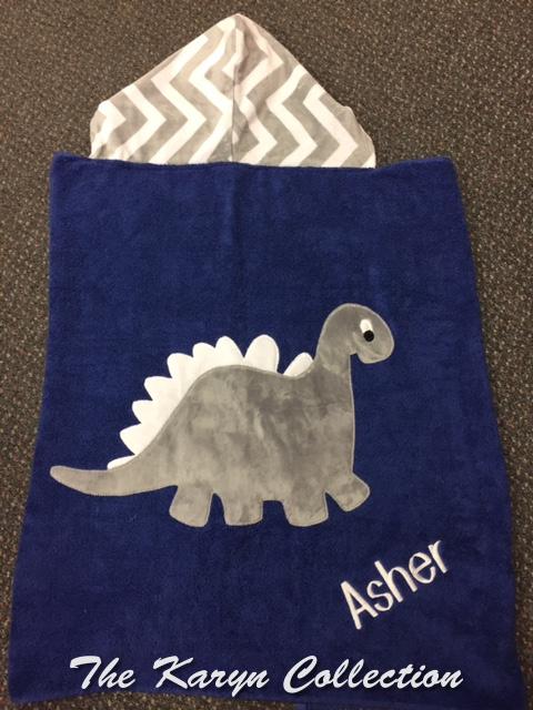 Asher's Dinosaur Toddler Towel