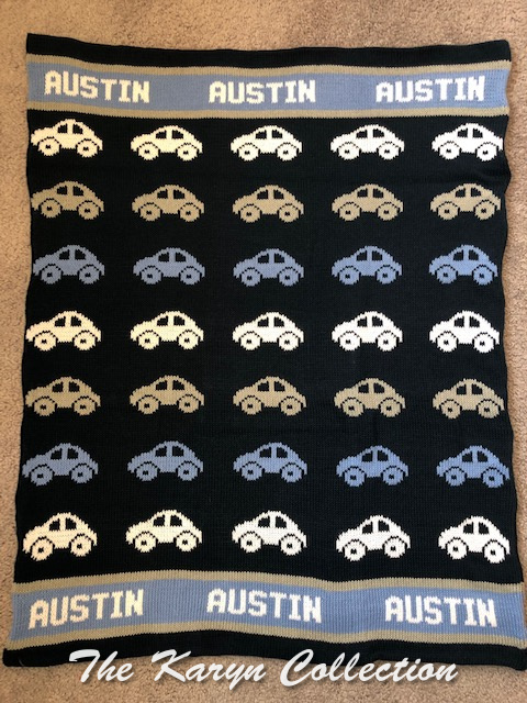 *EXCLUSIVELY OURS... Austin's ALL COTTON Cars blanket