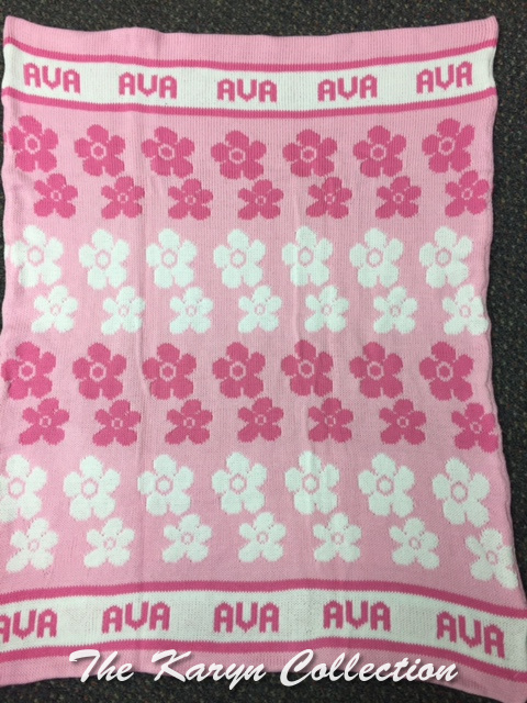 *EXCLUSIVELY OURS...AVA'S ALL COTTON DAISY BLANKET
