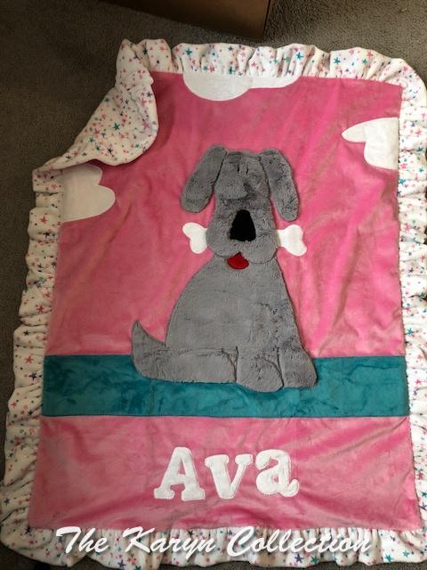 Ava's Puppy minki Blanket