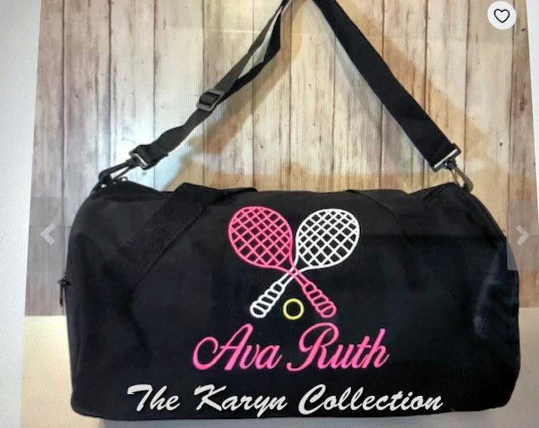 Ava Ruth's tennis duffle bag