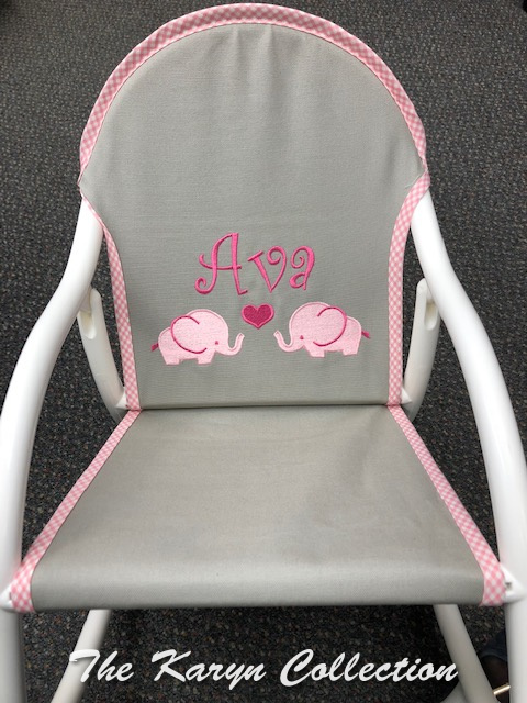 Ava's Pink Elephant Rocking Chair