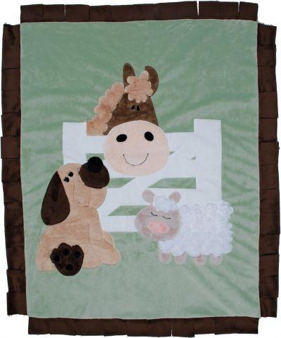Barnyard Buddies Minky Blanket