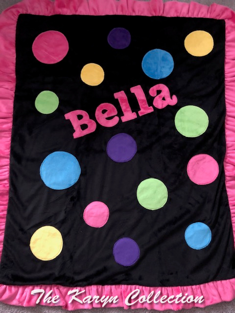 Bella's Colorful Dots minki blanket Blanket