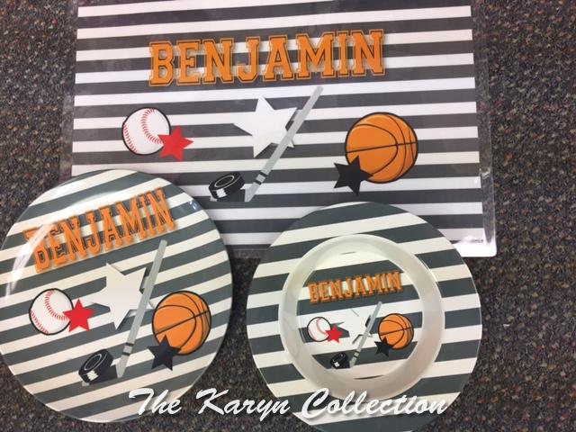 Benjamin's Sports 3-Piece Dish Set