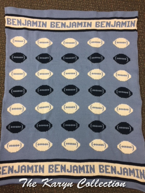 *EXCLUSIVELY OURS...BENJAMIN'S FOOTBALL ALL COTTON BLANKET