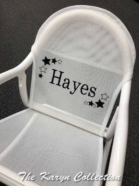 Hayes' Black on White Shadow Stars Rocker