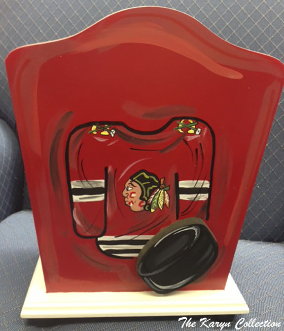 Chicago Blackhawks Trash Can