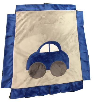 Mini minki blankets with fringe....lots of designs to choose from.. (this one-car)