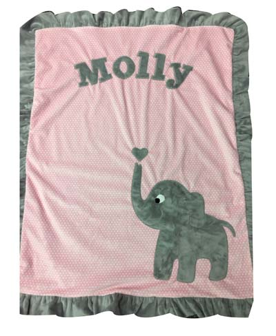 Basic elephant blanket on pink for Molly